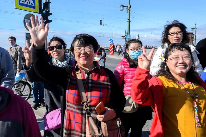 Туристы из Китая.